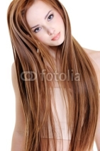 Fototapety woman with beauty straight hairs