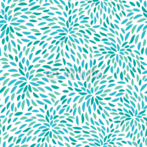 Naklejki Vector flower pattern. Seamless floral background.