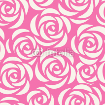 Naklejki Seamless pattern with roses. Abstract floral background. Vector illustration