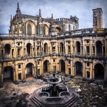 impressive cathedral Convent of Christ in Tomar, Portugal, UNESCo site
