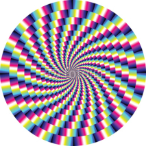 Naklejki vector optical illusion