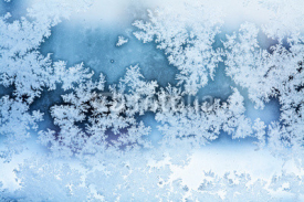 Naklejki winter ice rime abstract background