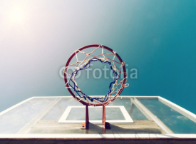 Fototapety Basketball Below Net