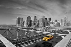 Obrazy i plakaty Brooklyn Bridge Taxi, New York