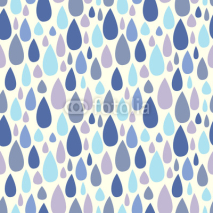 Naklejki Seamless pattern with raindrops