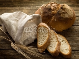 Fototapety bread ear and flour-pane spighe e farina