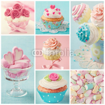 Fototapety Pastel colored sweets