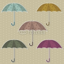 Fototapety set of colorful umbrellas