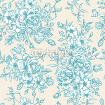 Fototapety Seamless pattern wit roses.