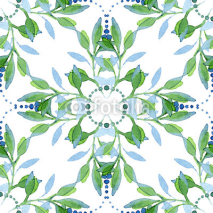 Fototapety Seamless watercolor floral pattern