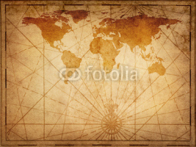 Naklejki Old map of the world. Elements of this Image Furnished by NASA.