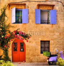 Fototapety Stone house in the Old Town of Rhodes, Greece