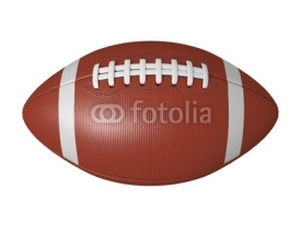 Naklejki American football ball isolated on a white background