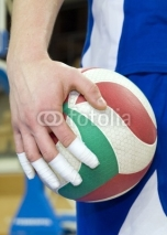 Fototapety Taped fingers of volleyball player