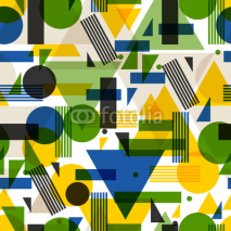 Fototapety Seamless pattern  in abstract geometric style. Design for wallpaper, background, textile printing