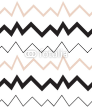 Fototapety Seamless geometrical pattern. Minimalist modern style. Abstract mountains. Zigzag. It is black white and nude colors.