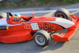 Naklejki Red formula racing car
