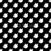 Obrazy i plakaty french bulldog vector seamless pattern background