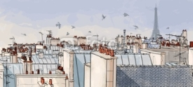 Obrazy i plakaty France - Paris roofs