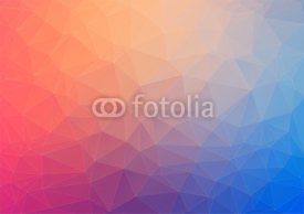Obrazy i plakaty Colorful geometric background with triangles