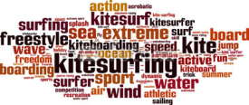 Fototapety Kitesurfing word cloud concept. Vector illustration