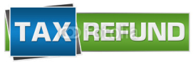 Fototapety Tax Refund Green Blue Horizontal