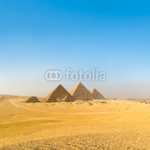 Naklejki Great pyramids in Giza valley, Cairo, Egypt