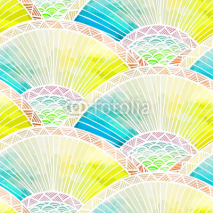 Fototapety Abstract seamless watercolor pattern