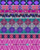 Fototapety Tribal seamless aztec pattern with birds and flowers