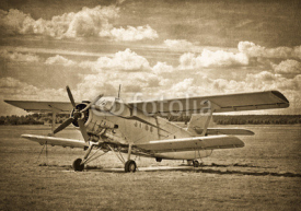 Fototapety Old aircraft, biplane