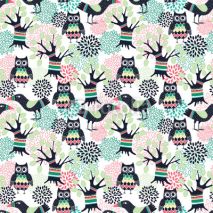 Fototapety Forest seamless pattern