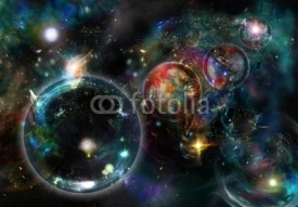 Fototapety Cosmic Nebulas and by enigmatic circles