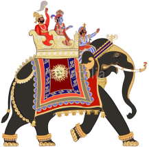 Fototapety decorated indian elephant