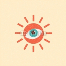 Fototapety abstract sun retro poster