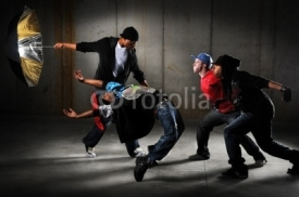 Fototapety Hip Hop Men Performing