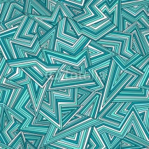 Naklejki Seamless abstract background in bright blue colors
