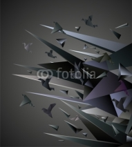 Fototapety Paper Escape, Origami abstract vector illustration.