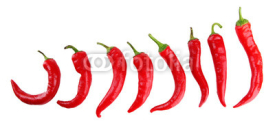 Obrazy i plakaty Red hot chili peppers isolated on  white