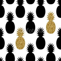 Naklejki Seamless Pineapples Pattern