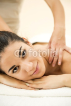 Fototapety Young woman having a massage