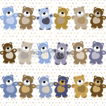 Naklejki vector seamless pattern of a toy teddy bear