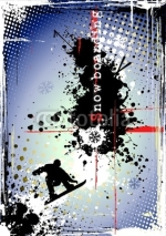 Fototapety dirty snowboarding poster