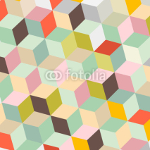 Naklejki Colorful Abstract Vector Retro Background