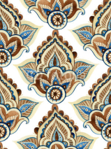 Fototapety Watercolor indian ornament