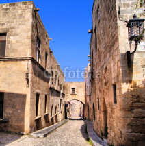 Obrazy i plakaty Medieval Street of the Knights, Old Town of Rhodes, Greece