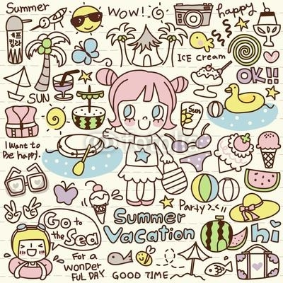 Cute Doodle Summer Vacation