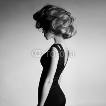 Fototapety Young beautiful lady in elegant dress