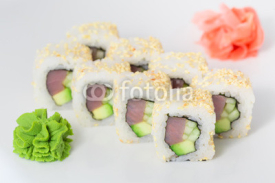 Japanese cuisine - sushi and rolls