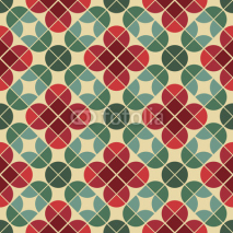 Fototapety Seamless vintage tiles background with stylized flowers.