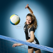Fototapety volleyball girl